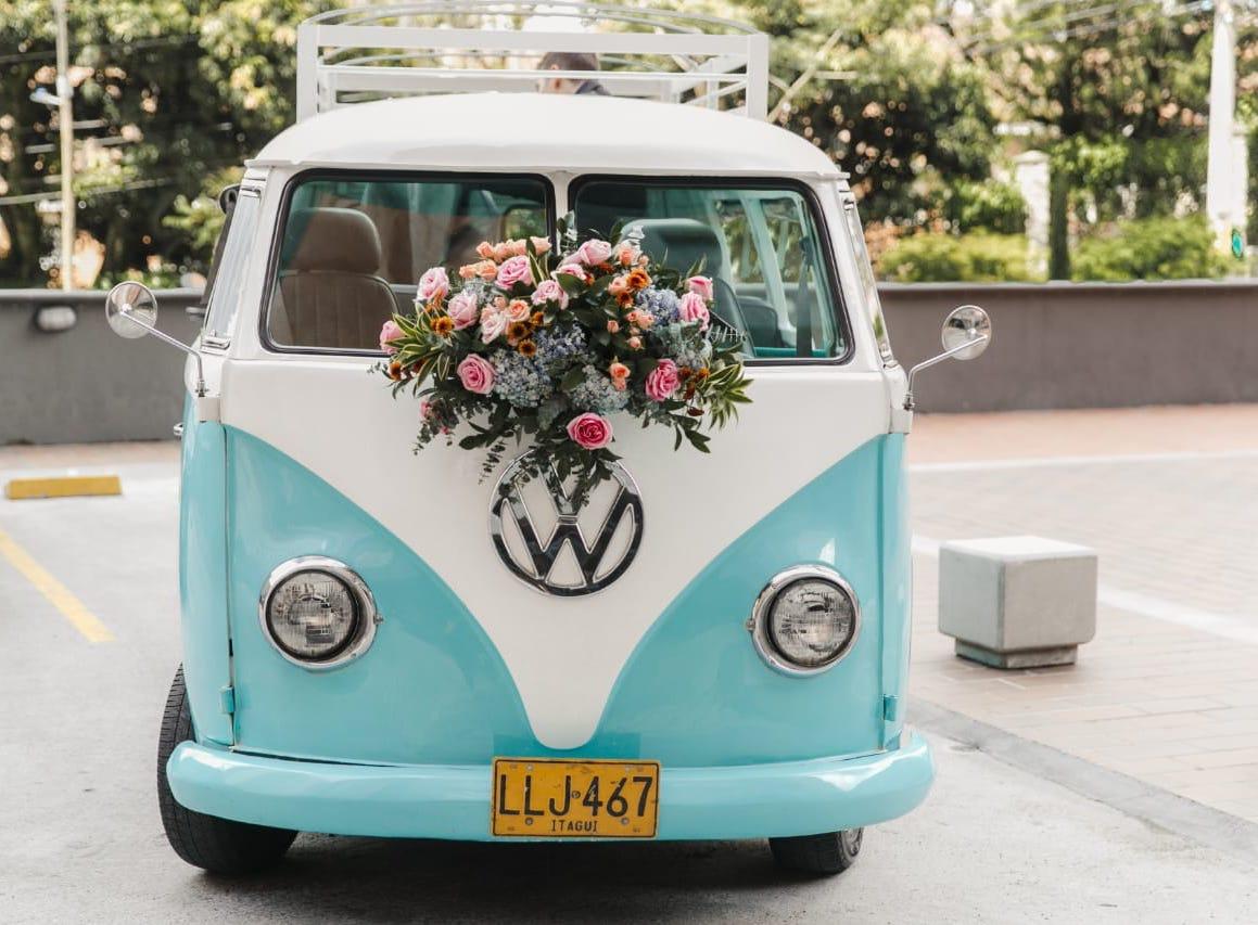 Entrelazados  (Para auto de bodas)